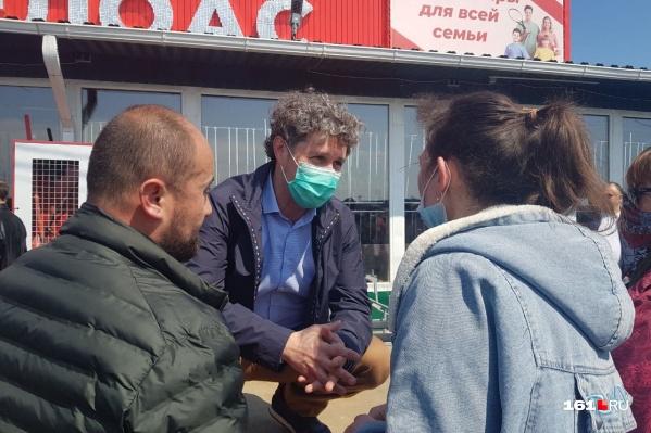 Александр Хуруджи посещал предпринимателей рынков во время их собраний