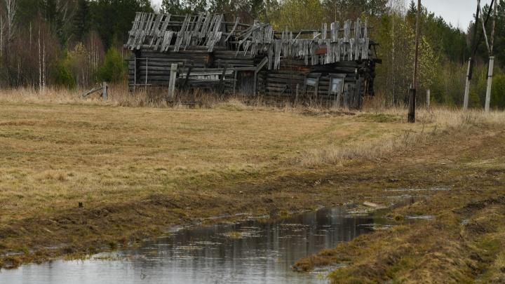 Деревня-призрак, в которой остался единственный житель. Фоторепортаж из уральской глубинки