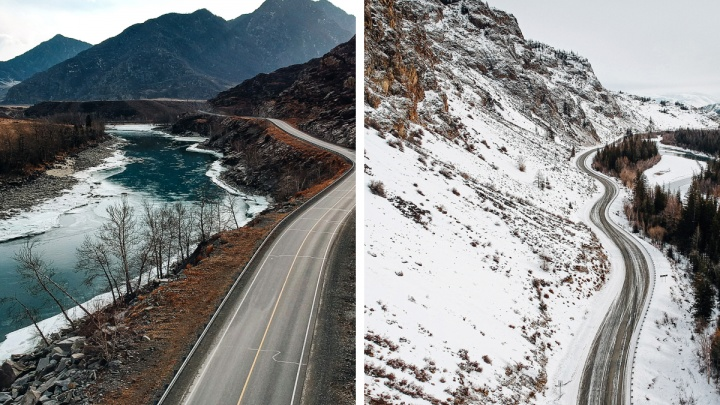 Фотограф снял замерзший Горный Алтай свысоты— 13кадров как будто с другой планеты