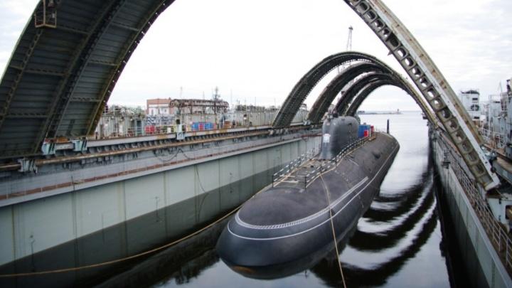 Атомную подлодку «Красноярск» спустили на воду в Северодвинске