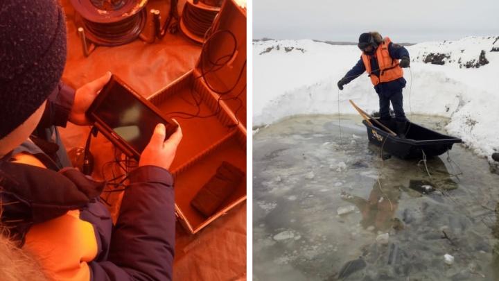 Из новосибирского озера достали тело утонувшего водителя бульдозера
