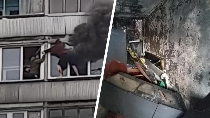 «Думала, он бросаться полез»: подробности страшного пожара на Фрунзе, где подростка спасли соседи по балкону