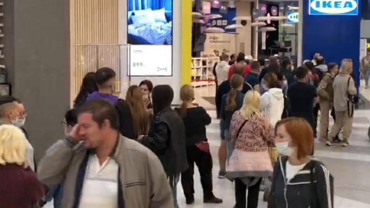 В Екатеринбурге у входа в IKEA выстроилась огромная очередь