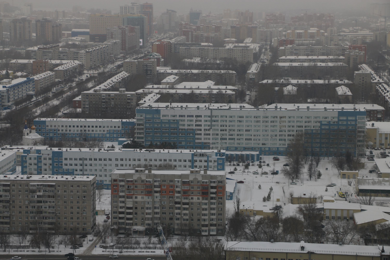 """Так выглядит больничный комплекс <nobr class=""""_"""">ОКБ № 2</nobr> из кабины вертолета"""
