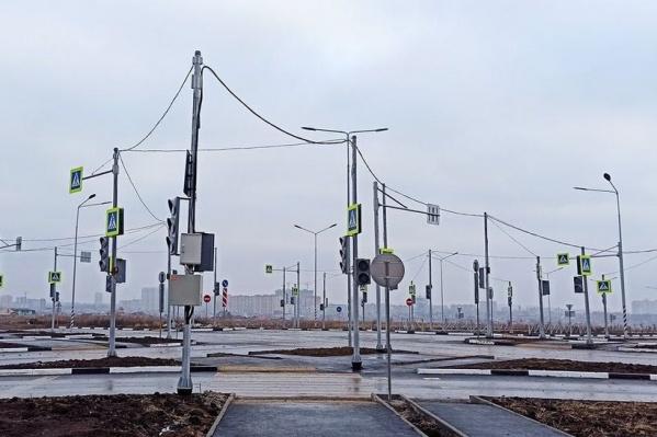 «Лес светофоров» появился в Левенцовке и привлек внимание как минимум всего города