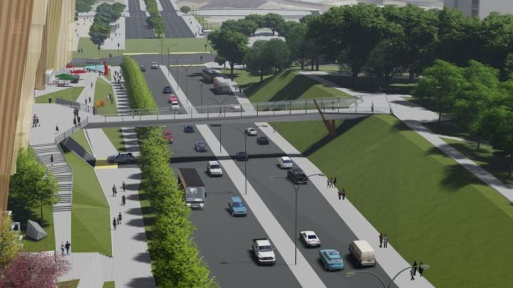 Рядом с МФЦ «Эспланада» в центре Перми построят надземный пешеходный переход
