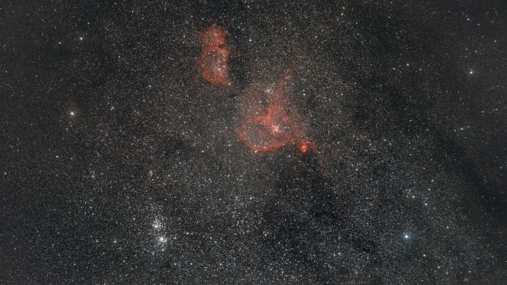 Новосибирец сфотографировал две туманности и звездное скопление — для этого ему пришлось уехать за 140 км от города