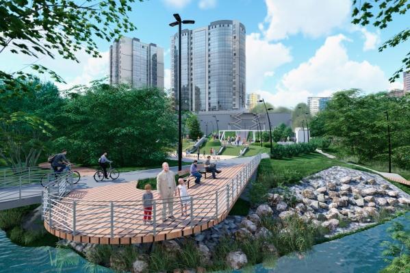 Строительство парка в пойме реки 1-я Ельцовка начнется в 2021 году
