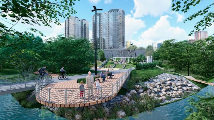 В Новосибирске приняли концепцию входной зоны в парк возле реки в Заельцовском районе — 8 картинок с эскизами