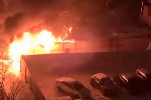 В пожаре обошлось без пострадавших