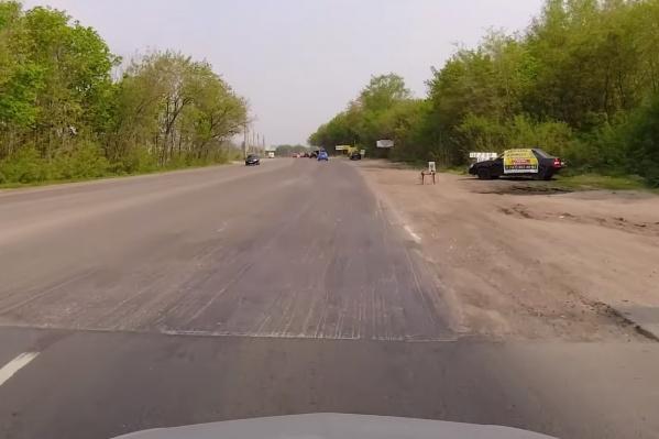 Новая дорога обрывается очень резко