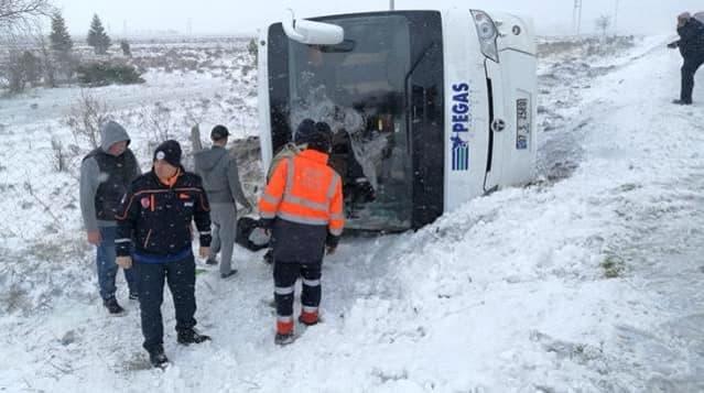 В Турции перевернулся автобус с российскими туристами. Один человек погиб, 26 пострадали