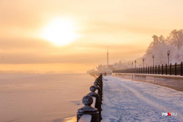 В Ярославле сегодня солнечно и морозно