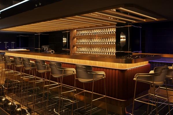 Весь дизайн нового заведения будет выполнен в оттенках шампанского