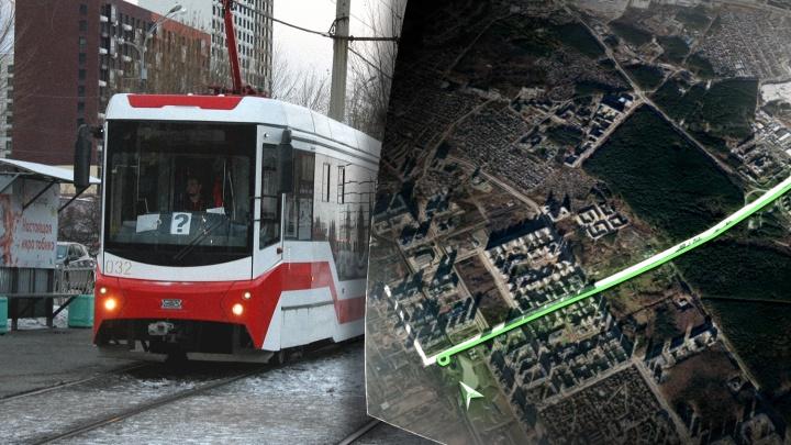 Эксклюзив Е1.RU: публикуем схему трамвайной линии в Академический