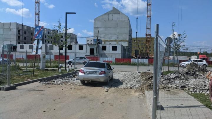 После бунта жителей Широкой Речки строители прекратили работы и открыли проезд к жилому комплексу