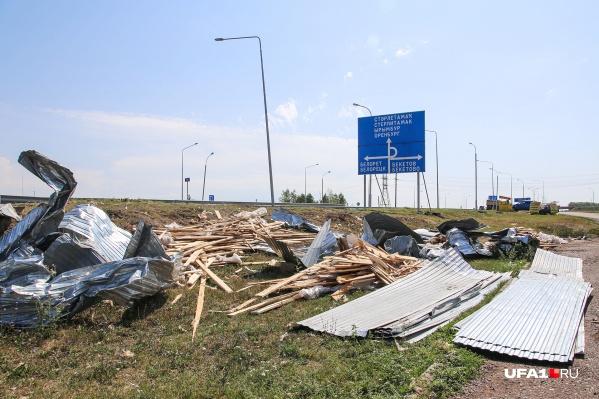 Так выглядят последствия урагана в Булгаково