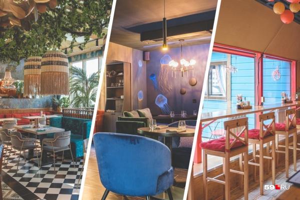 Заведения отличаются не только интерьерами, но и кухней