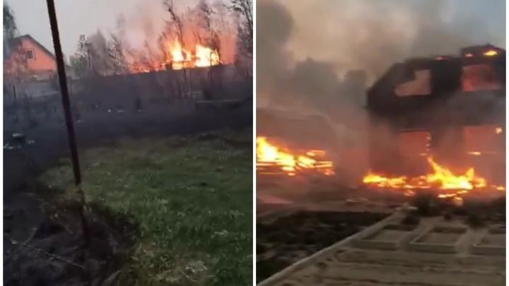 Под Тюменью сгорело 25 домов
