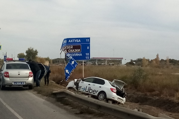 Авария произошла в Среднеахтубинском районе