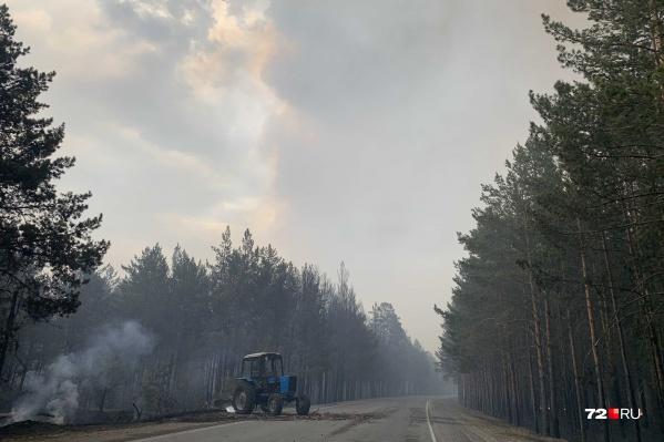Мужчина оказался в огненной ловушке в лесу, когда опахивал участки земли