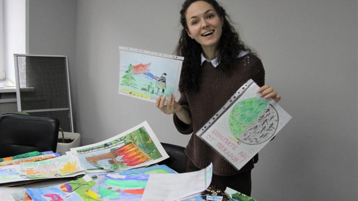 Лучших выбирали три часа: лесопромышленники Поморья подвели итоги конкурса детских рисунков