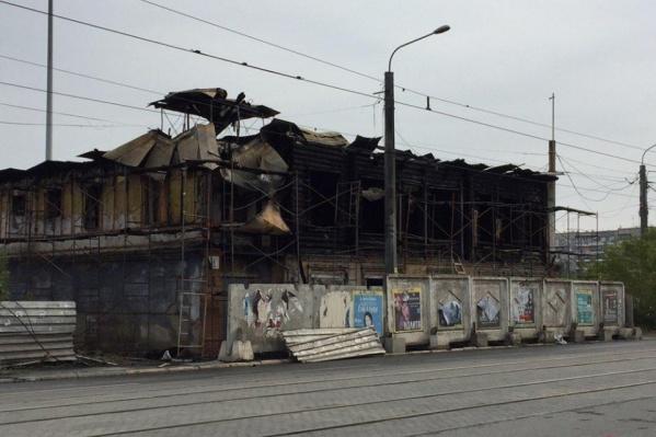Дом на улице Труда, 56 выгорел почти полностью 9 августа 2019 года