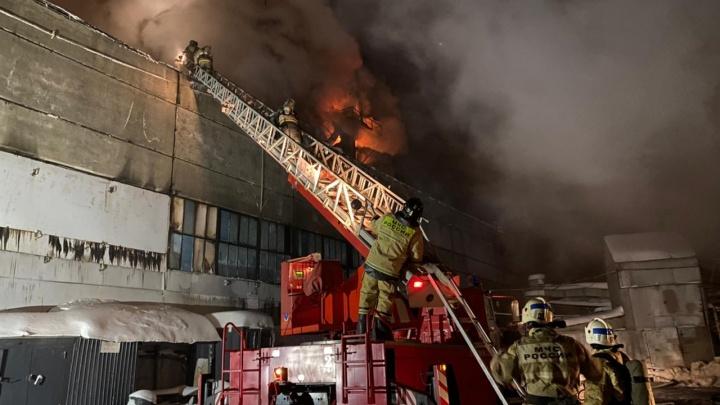 Пожар на фанерном комбинате в Уфе полностью потушили за сутки