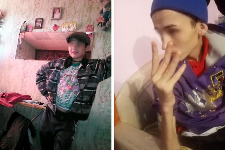 За год Матвей сильно похудел и разучился себя обслуживать. На фото слева — за несколько месяцев до отправления в интернат. Справа — так мальчик выглядел сразу после возвращения домой