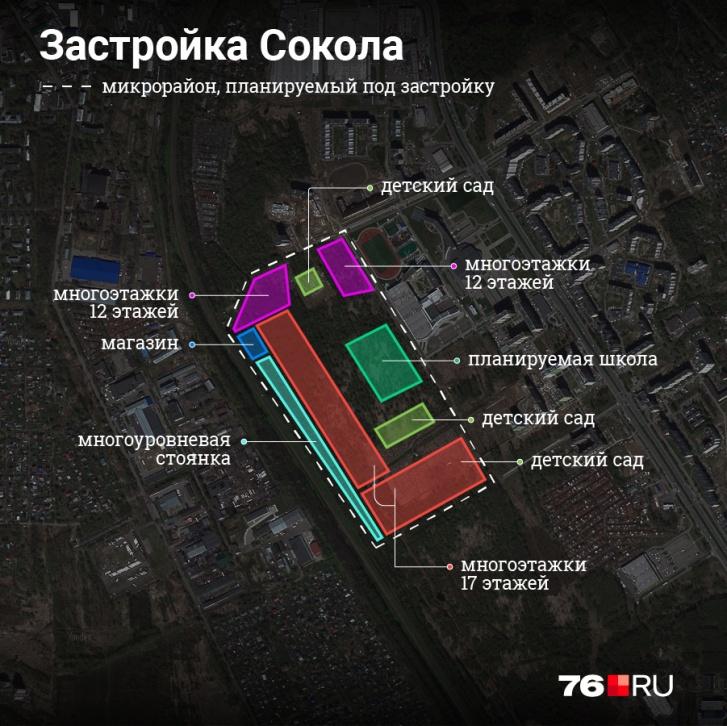 Примерное отображение плана по застройке района