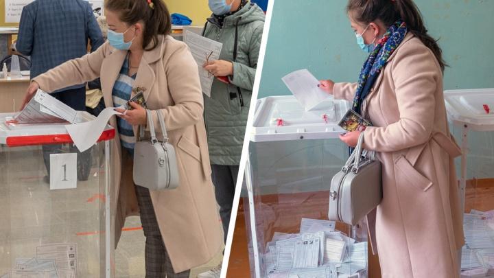 Фотограф UFA1.RU обнаружил, что на выборах в Уфе «одинаковые» женщины проголосовали на двух участках