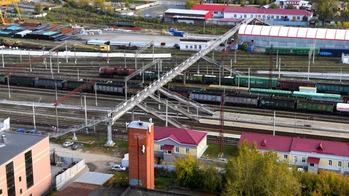 Под Блюхеровским мостом поезд сбил девушку. Она чудом выжила