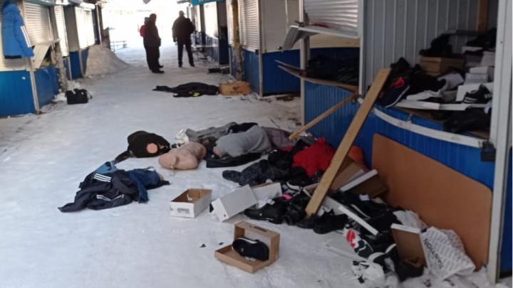 В Ярославле ночью разнесли и обокрали Дзержинский рынок