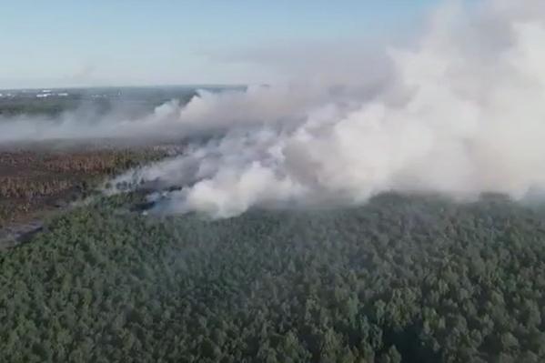 Дым от пожара утром накрыл Пермь