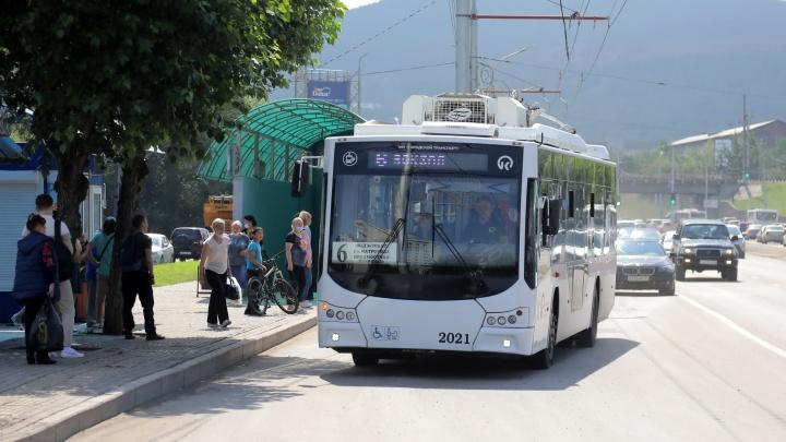 Маршрут 6-го троллейбуса в Красноярске продляют до Пашенного, а 36-й автобус отменяют