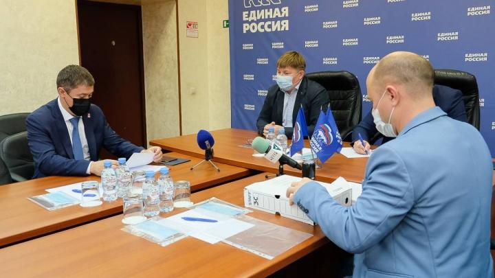 Дмитрий Махонин и Алексей Дёмкин подали заявления на вхождение в списки «Единой России»
