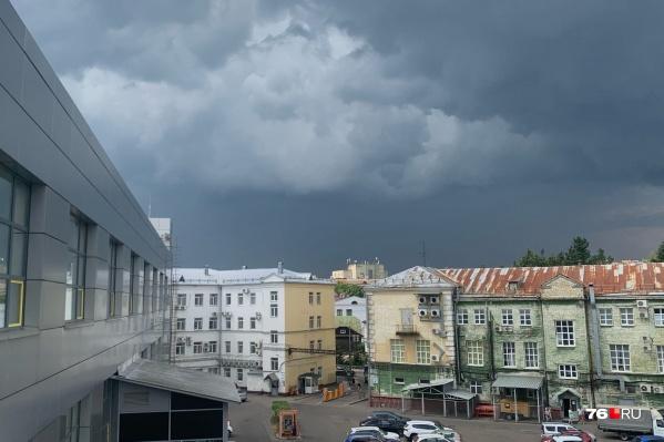 Скоро небо над Ярославлем затянут грозовые тучи