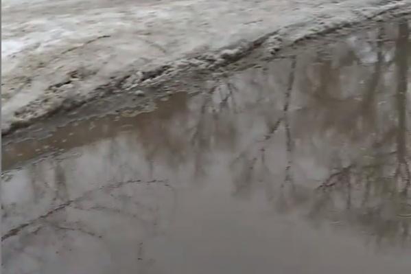 Последствия февральского дождя на дорогах