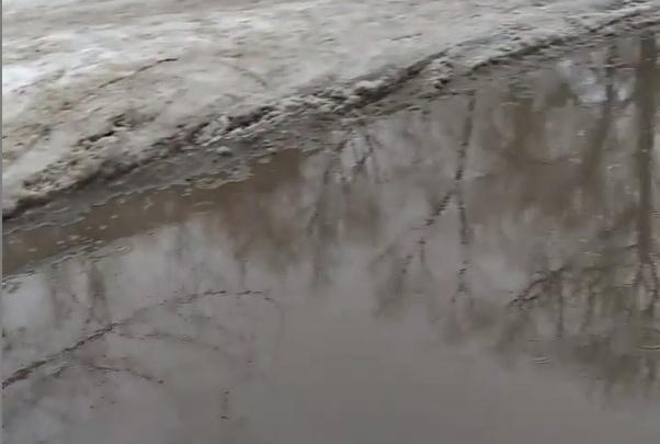 В Челябинске в начале февраля прошел дождь