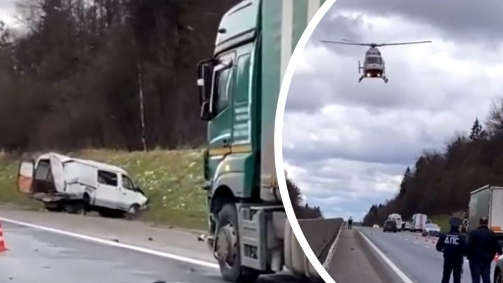 На вертолете забрали 4-летнего малыша: в полиции рассказали о страшном ДТП на Ярославском шоссе