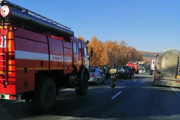 """Авария произошла на трассе <nobr class=""""_"""">М-5</nobr> в районе Миасса"""