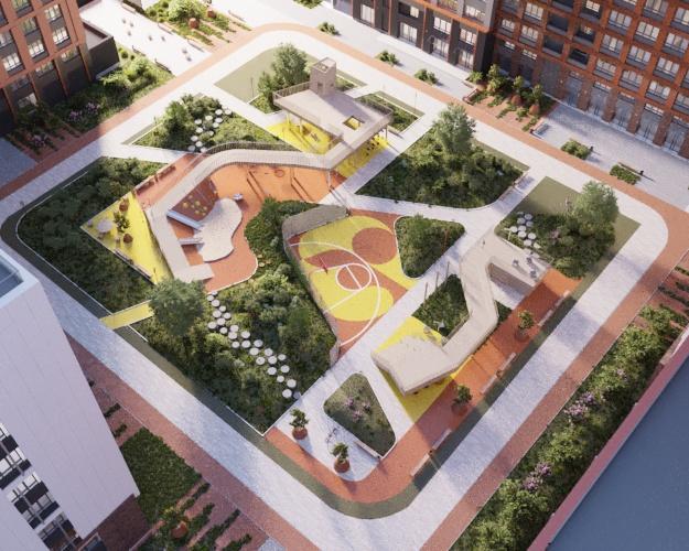 Придомовая территория будет разделена на несколько зон с учетом интересов всех жильцов