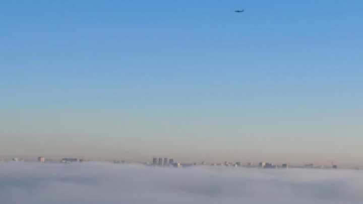 Девять рейсов не смогли приземлиться в Новосибирске из-за тумана в городе