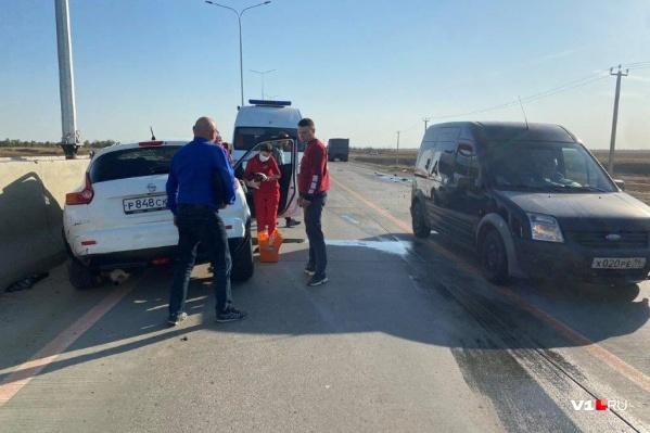 Двое пострадавших были доставлены в больницу