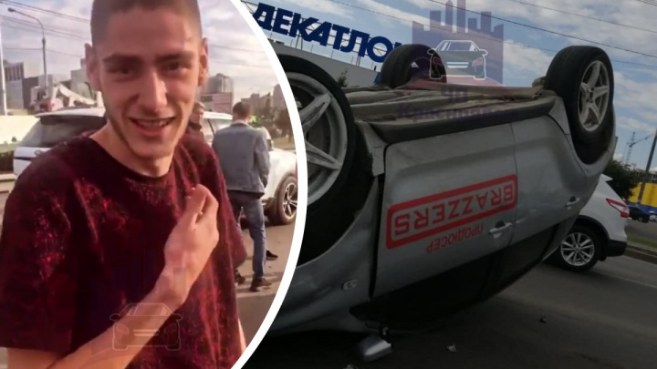 """«С """"Мерсом"""" закусился»: водитель авто с надписью «Продюсер Brazzers» рассказал о причинах ДТП"""