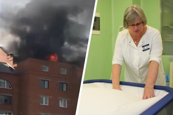 """Мужчину, получившего обширные ожоги во время пожара в поселке Мелькомбинат, с сентября выхаживали врачи <nobr class=""""_"""">ГКБ № 6</nobr>"""