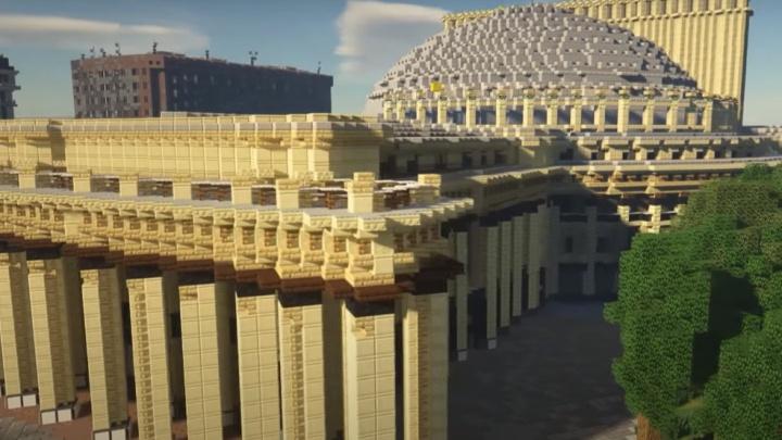 Город из кубиков: команда геймеров со всего мира построила центр Новосибирска в Minecraft