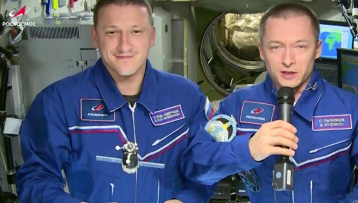 Члены экипажа МКС записали видеообращение для участников КЭФ