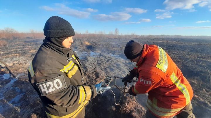 В Екатеринбурге и окрестностях пожары прошли 13 гектаров