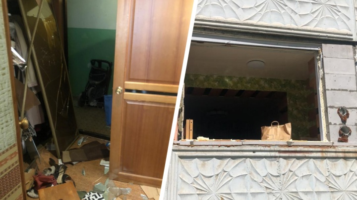 В новосибирской многоэтажке взорвался газовый баллон — в квартире выбило входную дверь